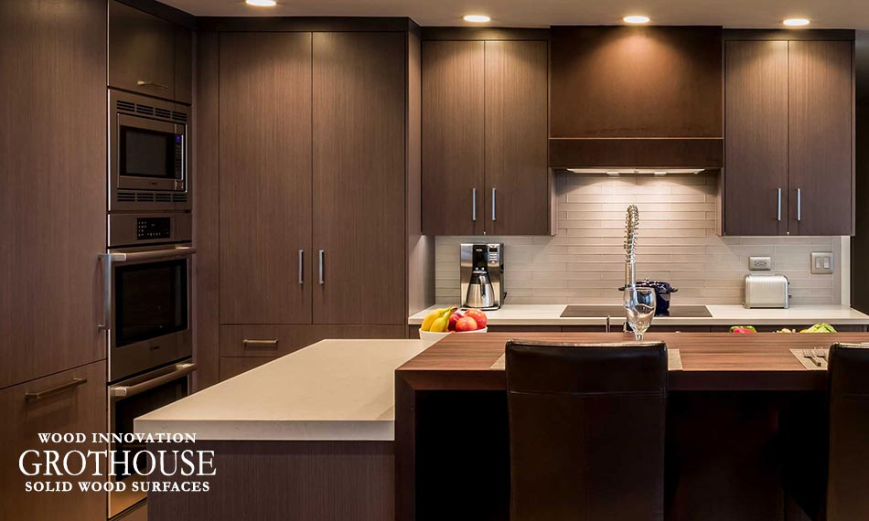 Peruvian Walnut Contemporary Kitchen Countertop for a kitchen in New Holland, Pennsylvania