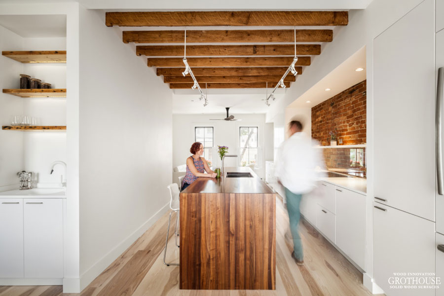 Transform Any Space by incorporating Wood Countertops, Accents, Shelves, Wall Niches into your design