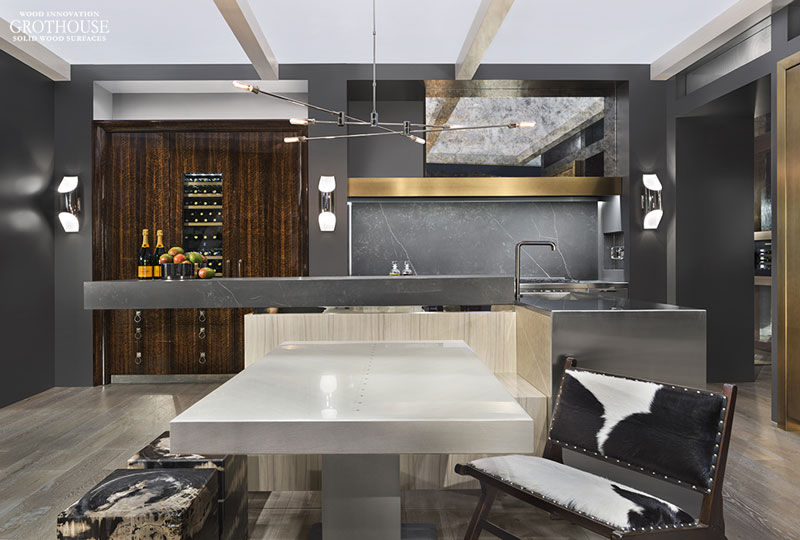 Custom Table designed by Richard Anuszkiewicz for KBIS 2018 Liebherr Booth