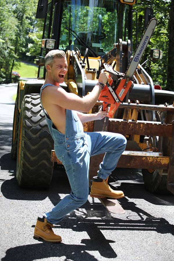 Ryan Serhant's first experience cutting down a tree had him pretty excited for Sell It Like Serhant Bravo TV