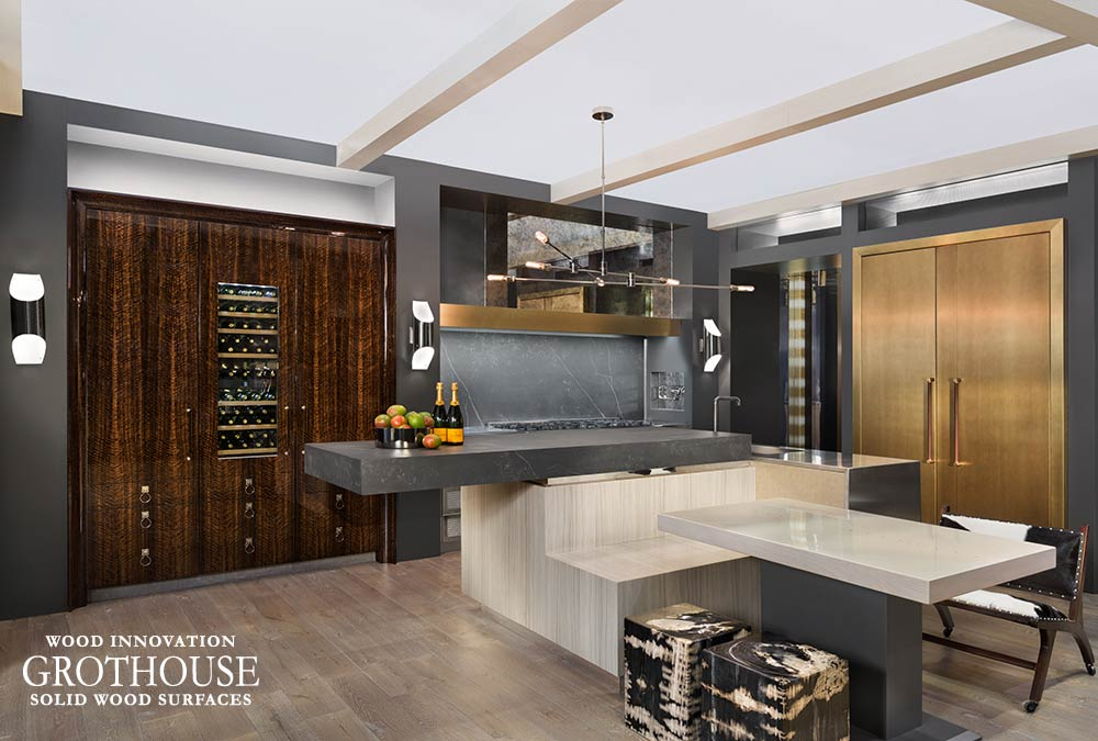 Unique Kitchen Island Design | Kitchen Island Shapes with Wood Countertops