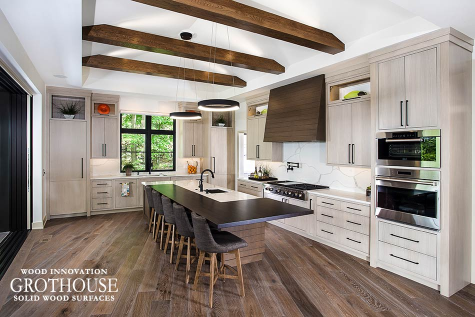 2019 Countertop Trends Matte Finishes Wood Countertops for Kitchens crafted by Grothouse