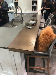 Grothouse Anvil™ Exodus Metal Countertop at KBIS 2019 in Elkay booth