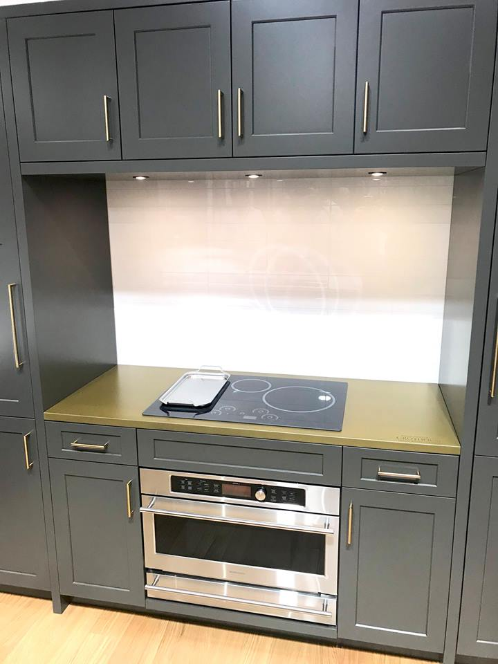 Grothouse Anvil™ Magnum Metal Countertops at KBIS 2019 in Harmoni Kitchens booth