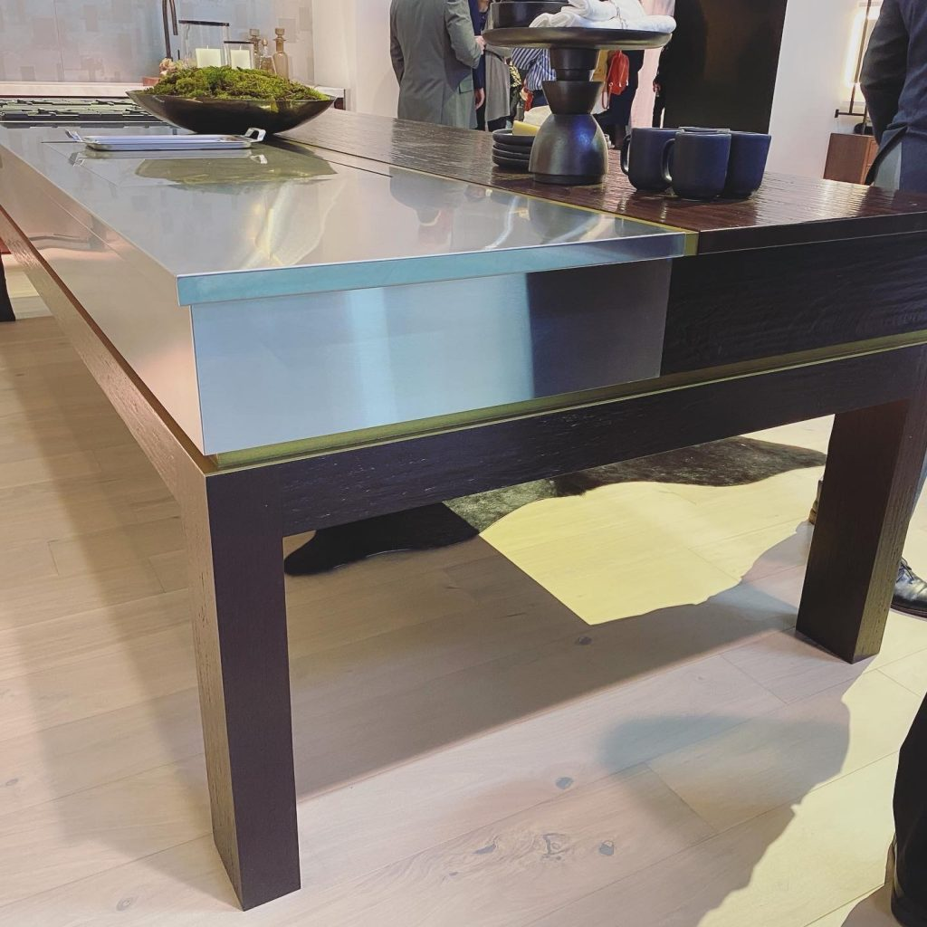 Custom Table in KBIS 2020 Monogram Appliances Booth designed by Richard Anuszkiewicz