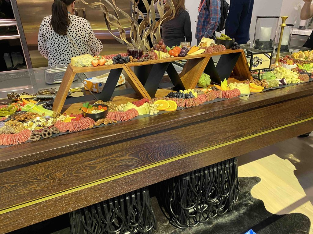 Charcuterie by Board & You on Custom Wenge Wood Table at KBIS 2020