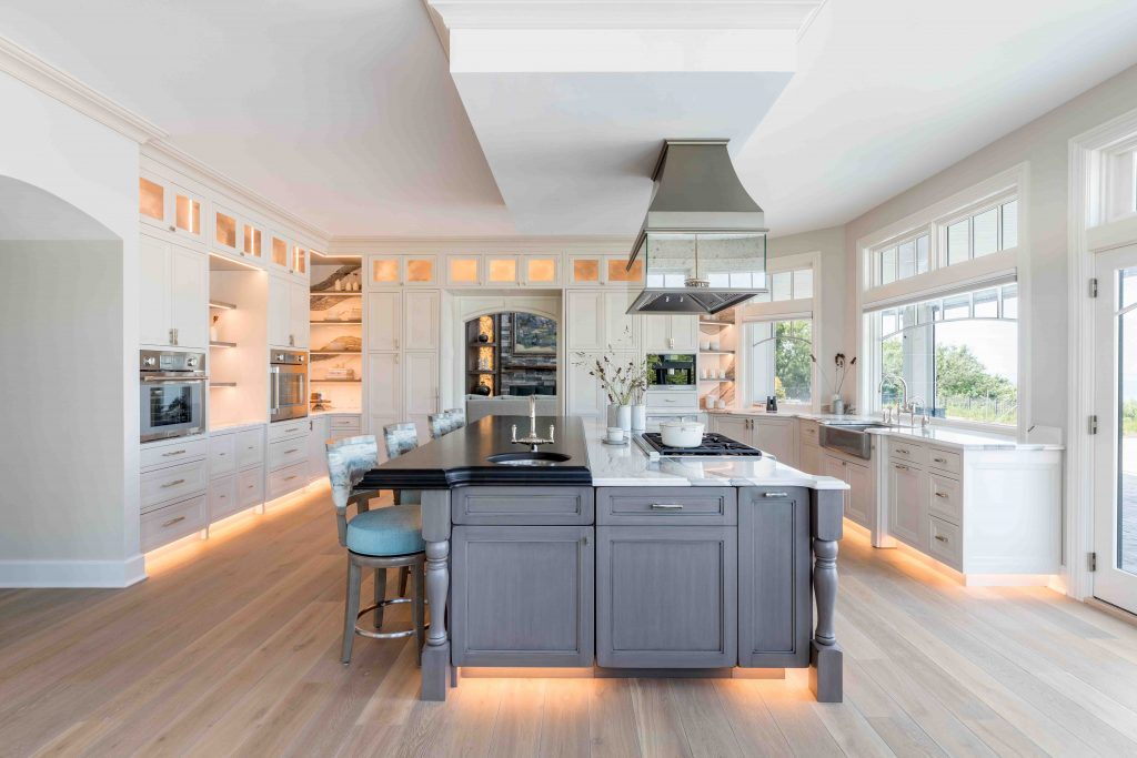 A Coastal Home with Wood and Metal Countertops by Grothouse