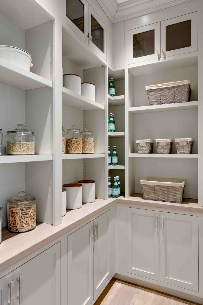 Custom Stained Ash Wood Pantry Counter