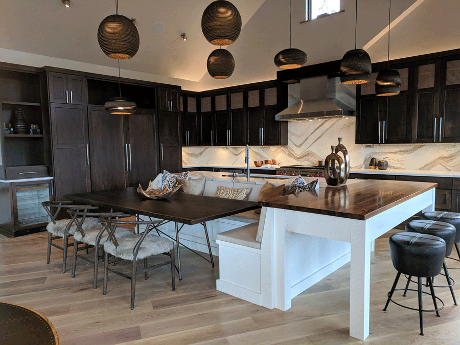 Two Tier Kitchen Island Designed for Gathering